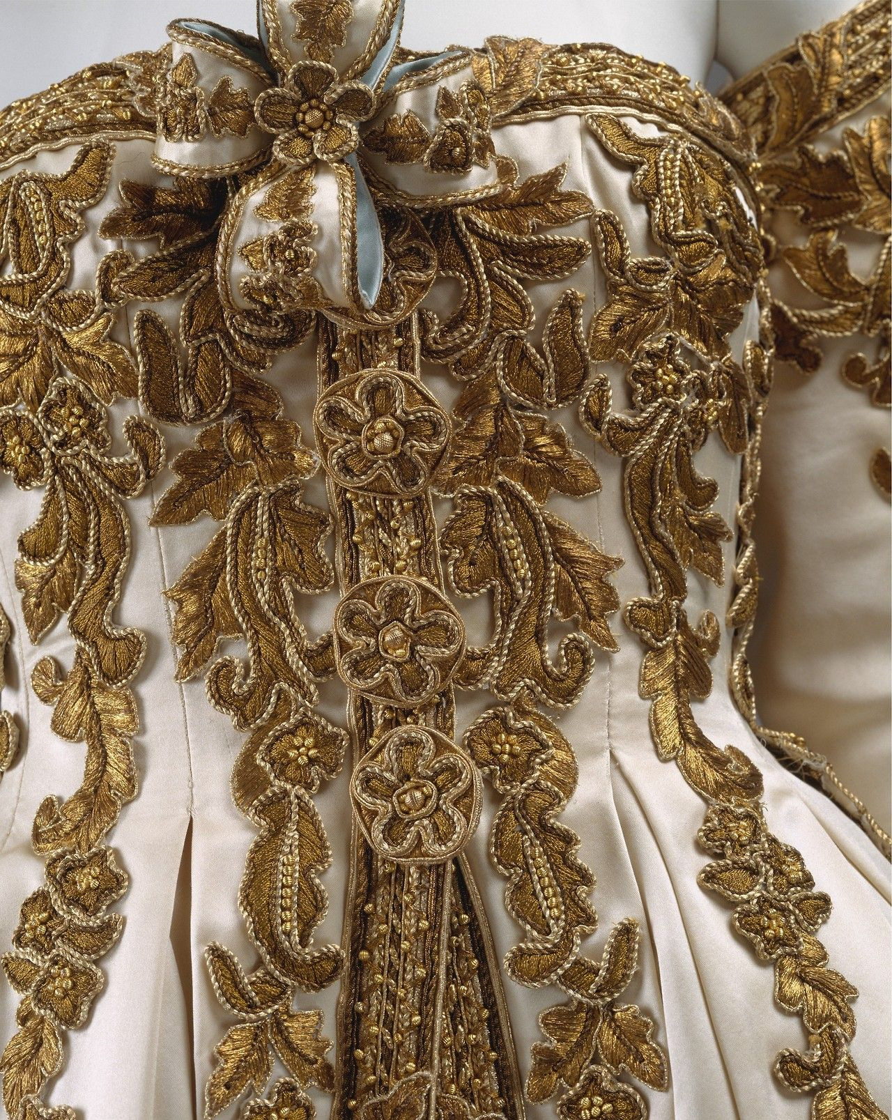 Evening Ensemble (Detail)   Chanel designed by Karl Lagerfeld  1990