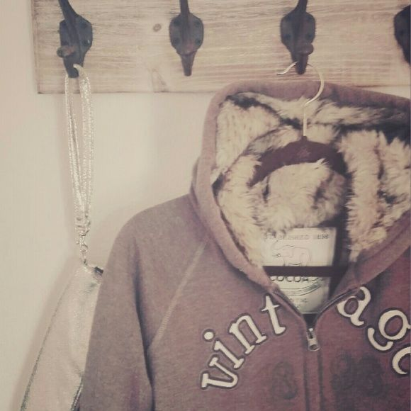 Faux fur hoodie This vintage faux fur hoodie is perfect for those cold nights. Fully lined inside it's like a hug from a giant bear. Cocoa Authentic Vintage  Sweaters Cardigans