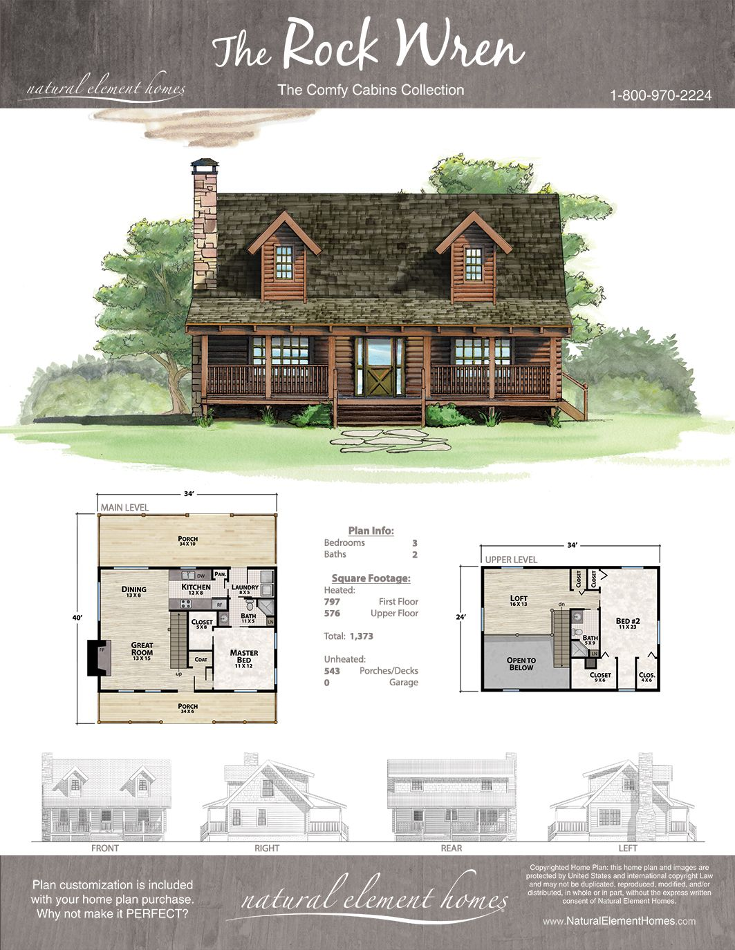 Rock Wren Plan Comfy Cabins Natural Element Homes Cabin House Plans Sims House Plans Tree House Plans