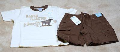 NWT BOYS Gymboree Adjutable Waist Shorts with matching pullover Shirt - Size 5