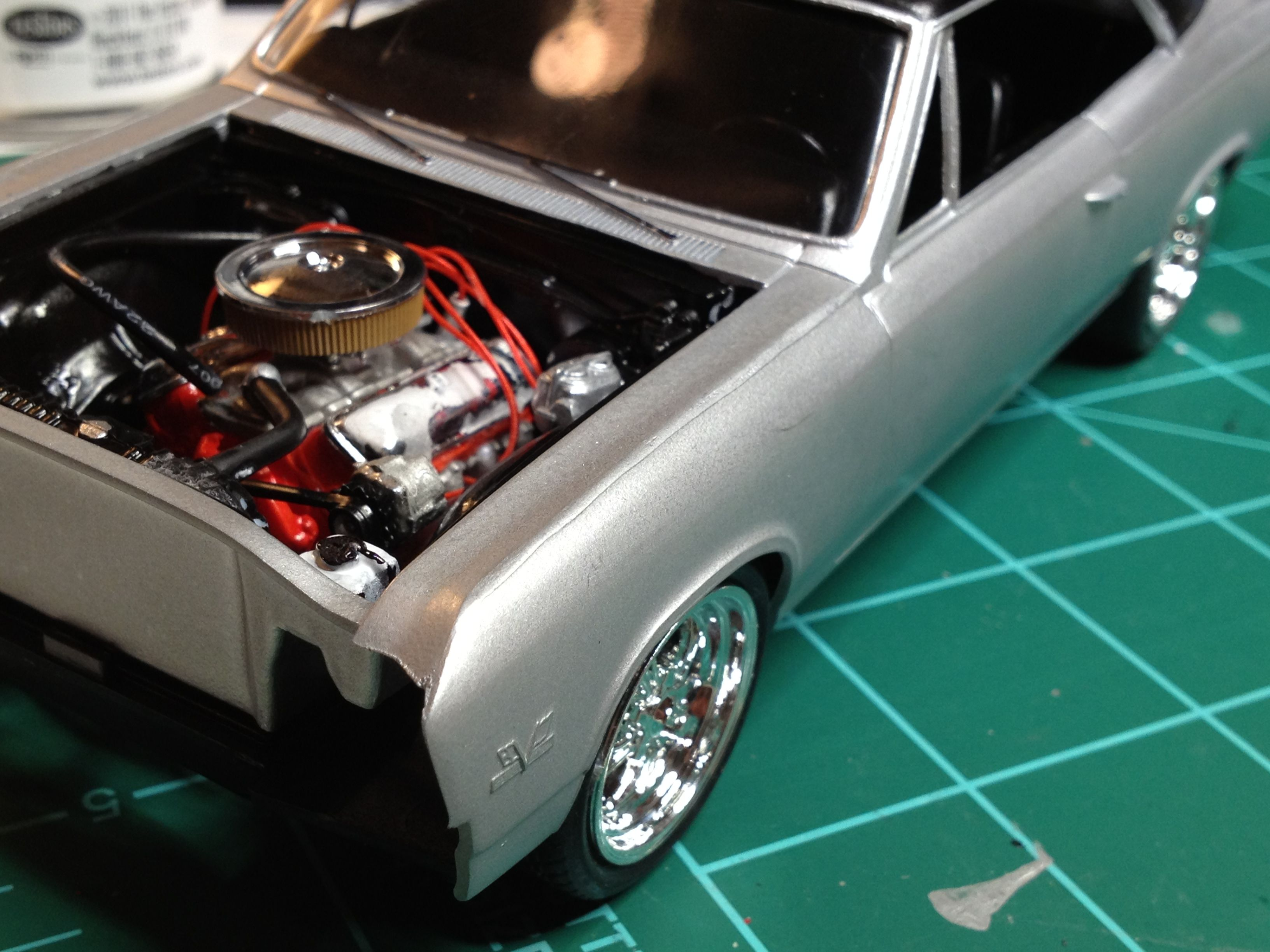 Model car engine detailing chevelle ss 396 engine detailing revell scale auto two tone