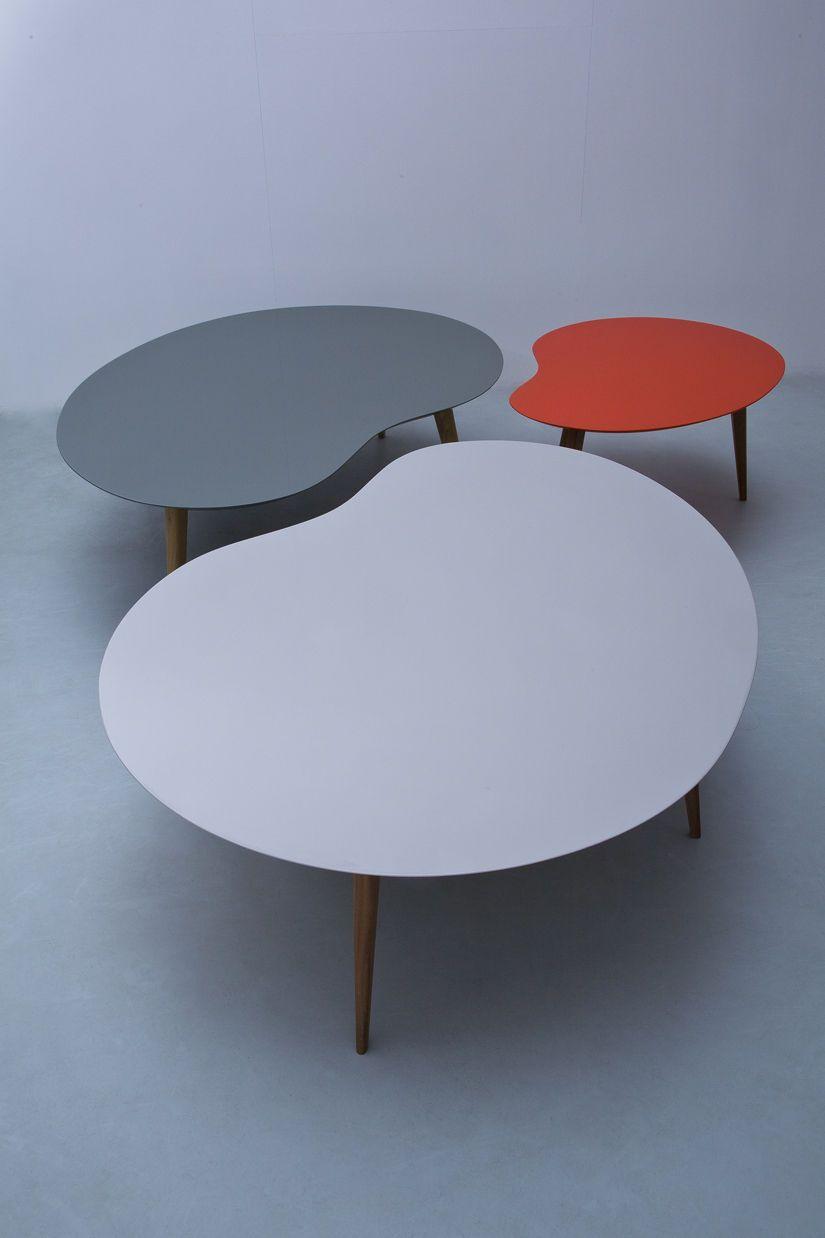 Table Basse Lalinde Xxl Haricot L 130cm Pieds Bois Sentou