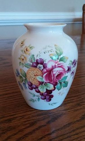 Gorgeous Hand Painted Spode Vase Signed Spode Bone China Vase