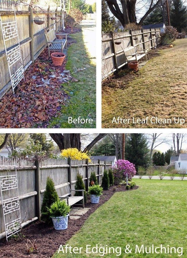 Simple Spring Yard Clean Up Garden Makeover Backyard
