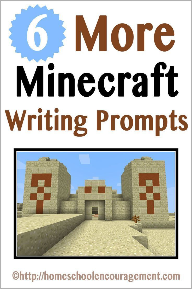 More Minecraft Writing Prompts Writing Prompts Writing Skills Writing Activities [ 1104 x 736 Pixel ]