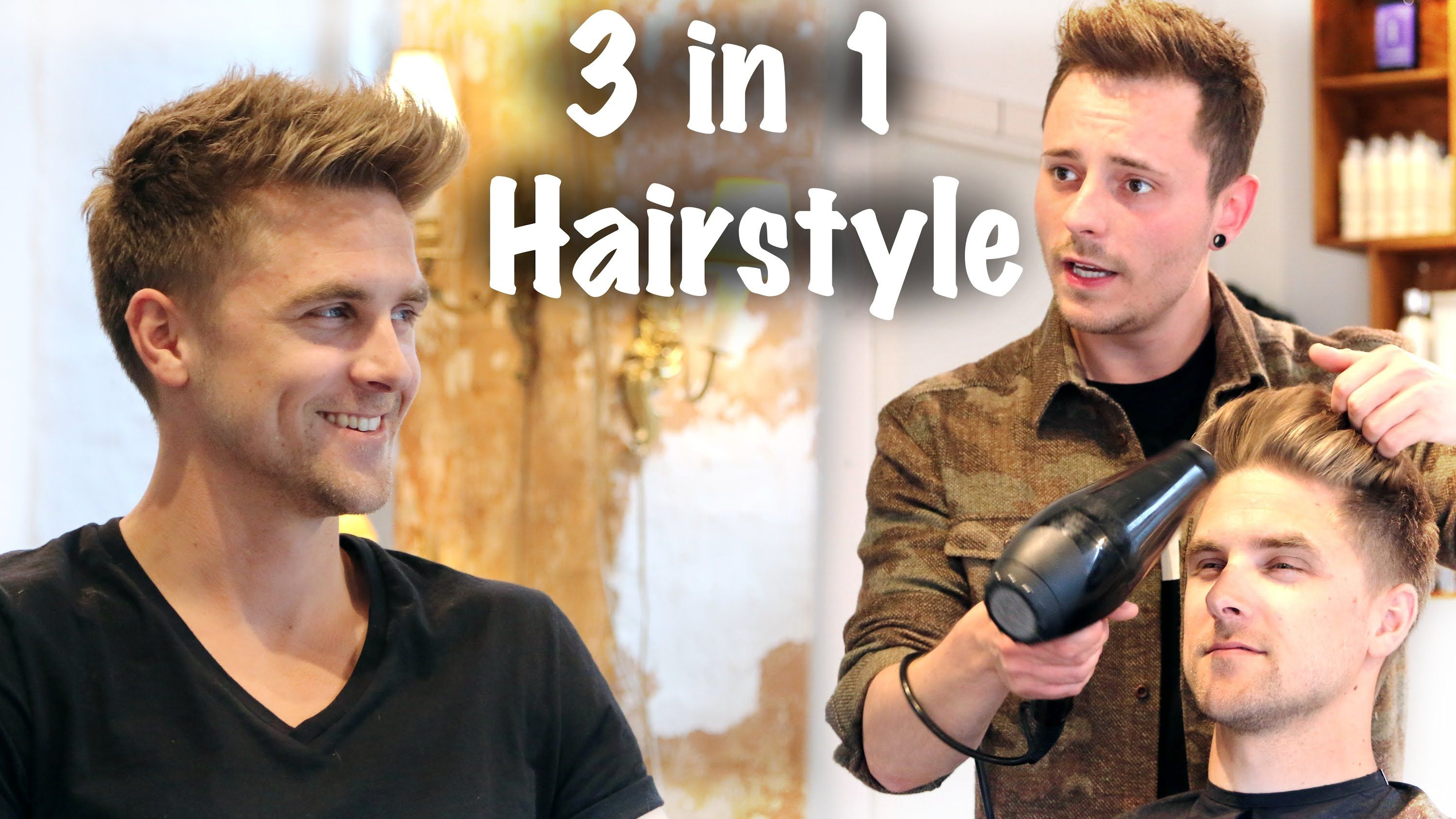 Amazing 3 Hairstyles In 1 Haircut ☆ Professional Hair Inspiration For Men