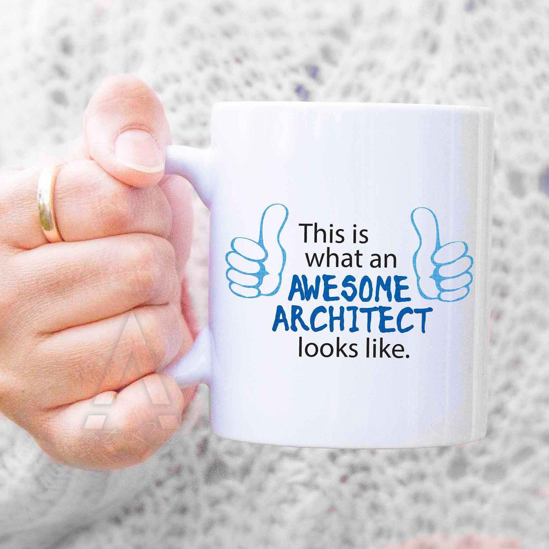 "Architect Gift Christmas Gift For Architect ""awesome Architect"" Coffee Mug"