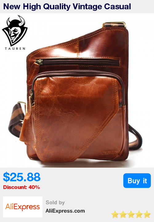 d9154eeb5464 New High Quality Vintage Casual Crazy Horse Leather Genuine Cowhide Men  Chest Bag Small Messenger Bags For Man   Pub Date  18 41 Apr 15 2017