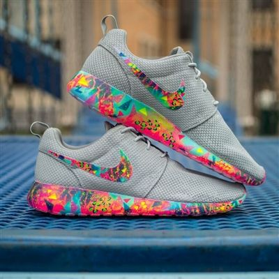 Grey Bel Air Roshe Custom Painted Nike Roshe One in the style of