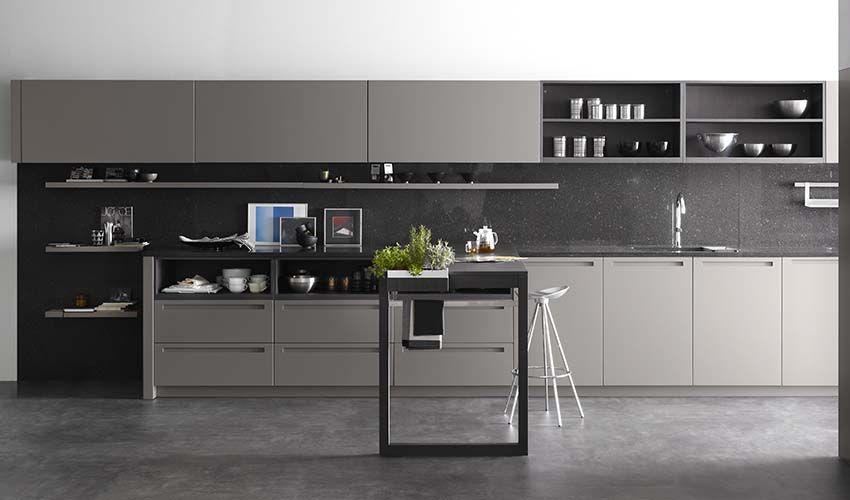 cocina gk urban est fabricada con un acabado en madera de roble gris frentes acabados