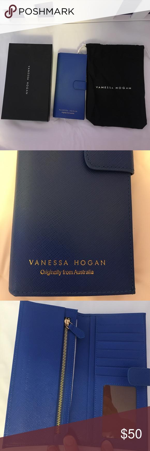 17de4bb537 Royal Blue Vanessa Hogan Snap Wallet Royal Blue Vanessa Hogan snap wallet  with bill, change