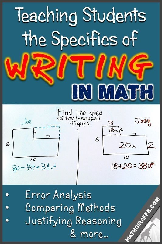 Teaching Your Students the Specifics of Writing in Math Class.    How to explicitly teach students to write clear, complete explanations in math class - and follow it up with immediate practice (examples included!)