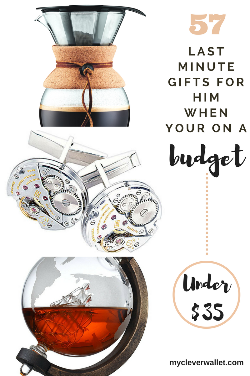 57 Last Minute gifts for Him when you are on a BUDGET