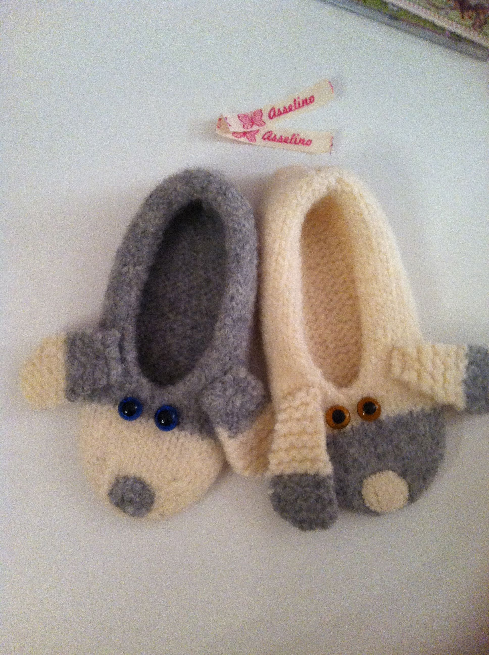 handmade by asselino, cosy slippers for little people, material: felt
