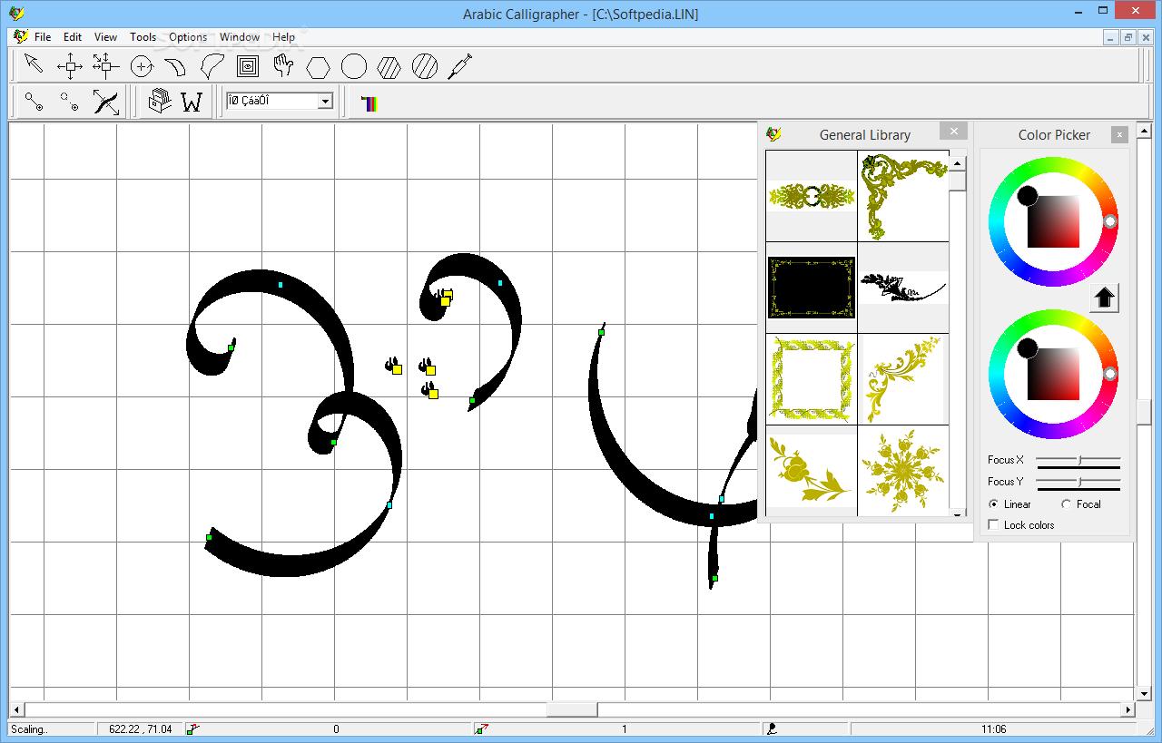 تحميل برنامج الكتابة بالخط العربي وزخرفة الكلمات والحروف Arabic Calligrapher 3 0 Calligrapher Map