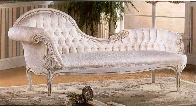 Buttoned Full Back Chaise Lounge Elegant Home Decor