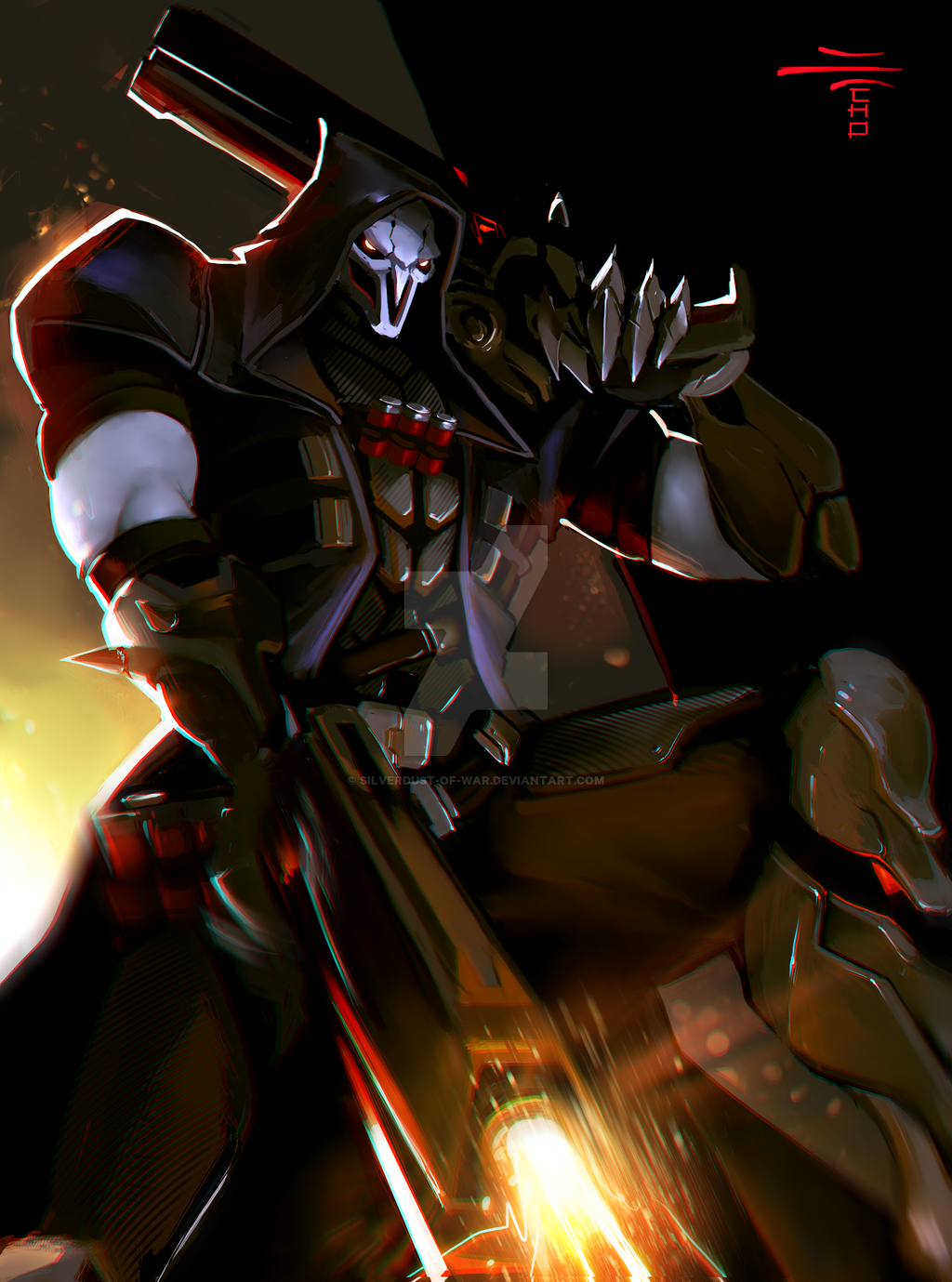 Overwatch Fanart Reaper By Silverdust Of War Dafkmsy Png 1024 1379 Overwatch Reaper Overwatch Overwatch Story