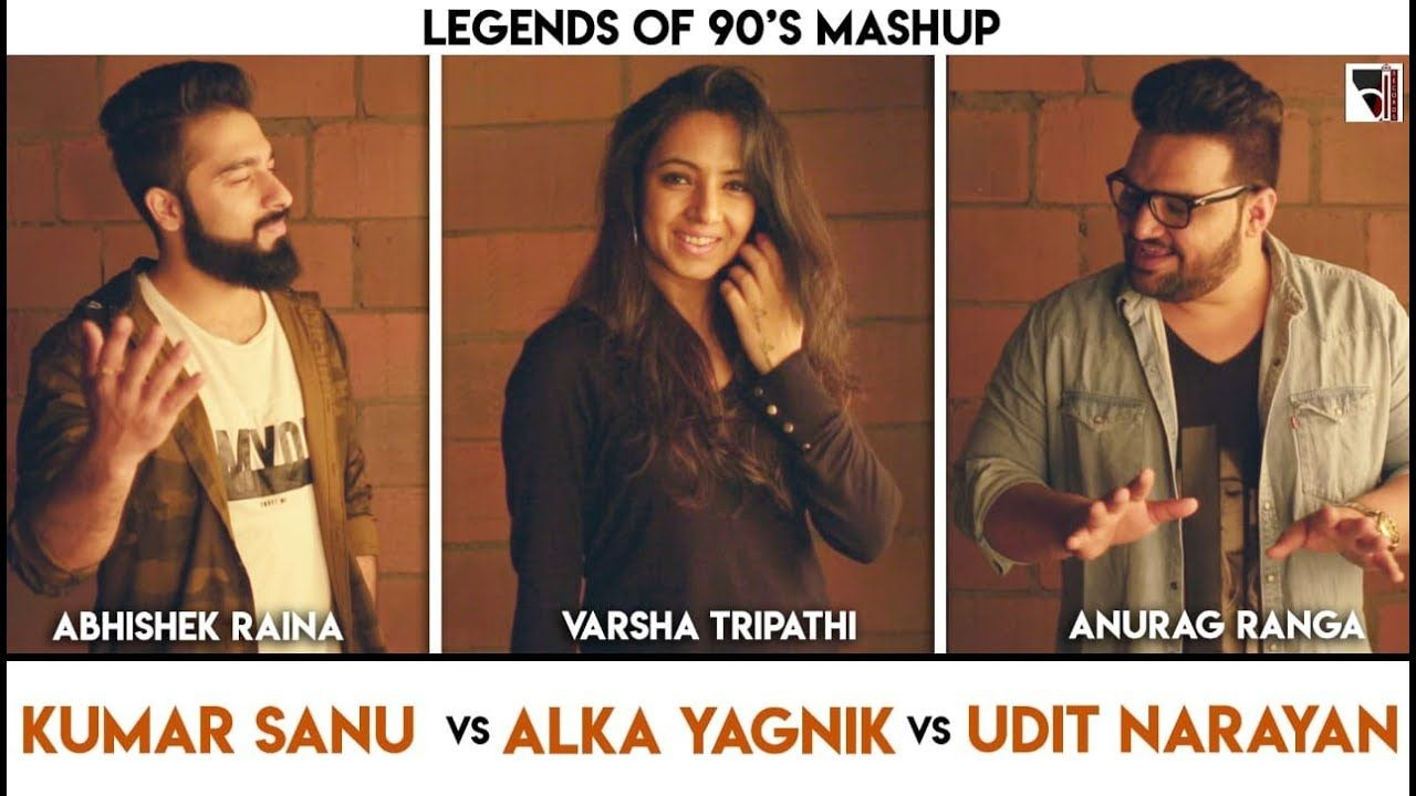 Legends Of 90 S Bollywood Songs Mashup Anurag Ranga Abhishek Raina 90s Bollywood Songs Bollywood Songs Songs