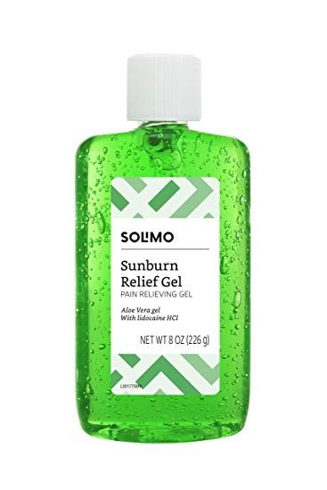 Amazon Brand Solimo Sunburn Relief Gel With Aloe Vera 8 Fluid