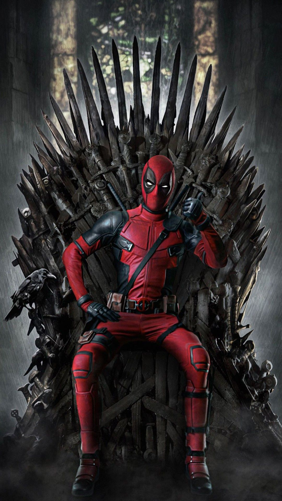 Deadpool On The Throne Deadpool Wallpaper Marvel Comics Wallpaper Deadpool Art