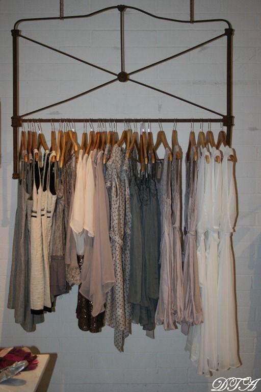 Headboard Clothing Rack Could We Use Salvage To Make Some Cool Looking Free Standing
