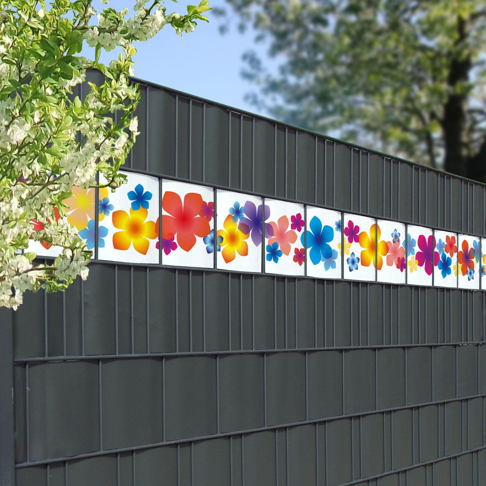 Sichtschutz Streifen Motiv Bunte Blumen