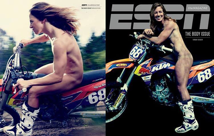 Tarah Gieger, Pro Puerto Rican Motocross racer, in the newest ESPN Body issue. (FMF Racing FB)
