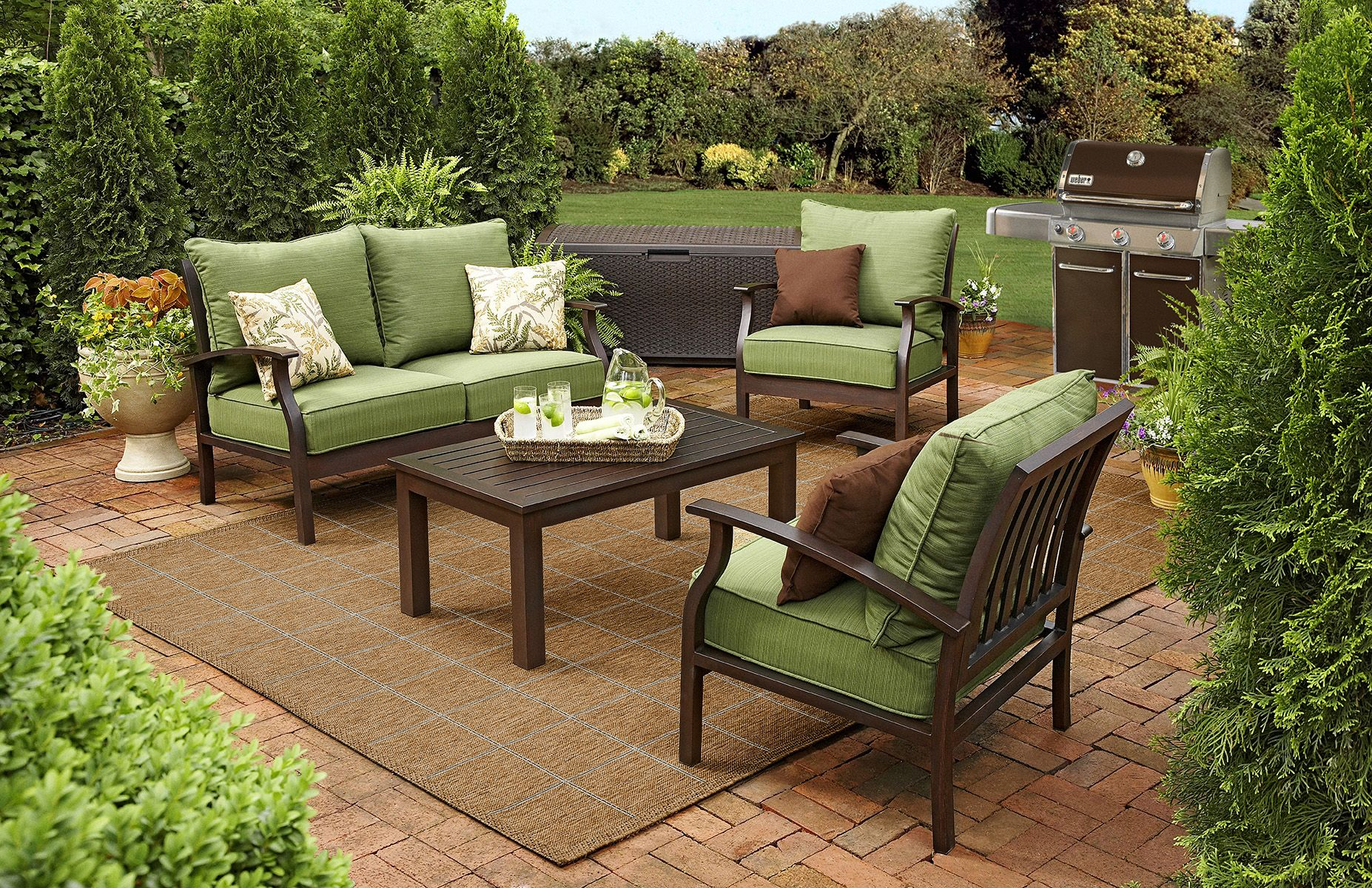 Product Not Found Lowes Com Outdoor Cushions Patio Furniture Outdoor Patio Furniture Sets Apartment Patio Furniture