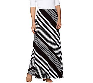 2945087b1f Susan Graver Striped Liquid Knit Maxi Skirt - Regular | Products ...