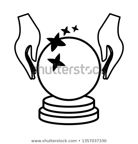 Crystal Ball And Hand Icon Vector Shutterstock Premier Hands Icon Crystal Ball Crystals