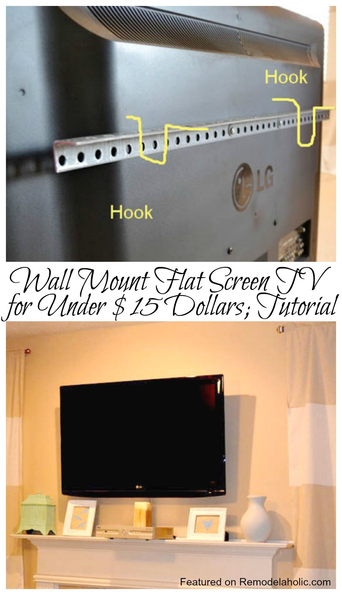 How To Wall Mount A Flat Screen Tv For Under 15 Dollars Tutorial