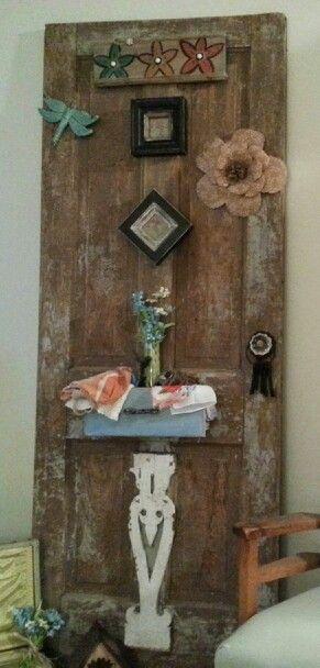 "Old Door I ""embellished""..I Loved The Way It Turned Out"