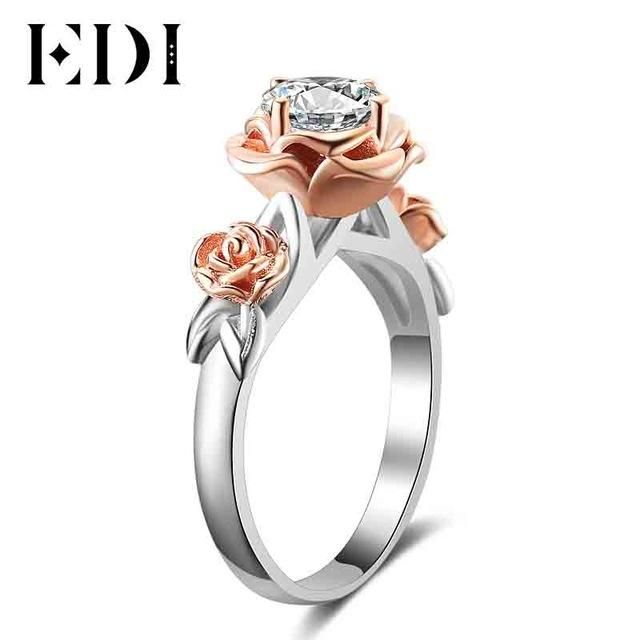 Crystal Engagement Ring Beauty And The Beast Fine Jewelry | wedding ...