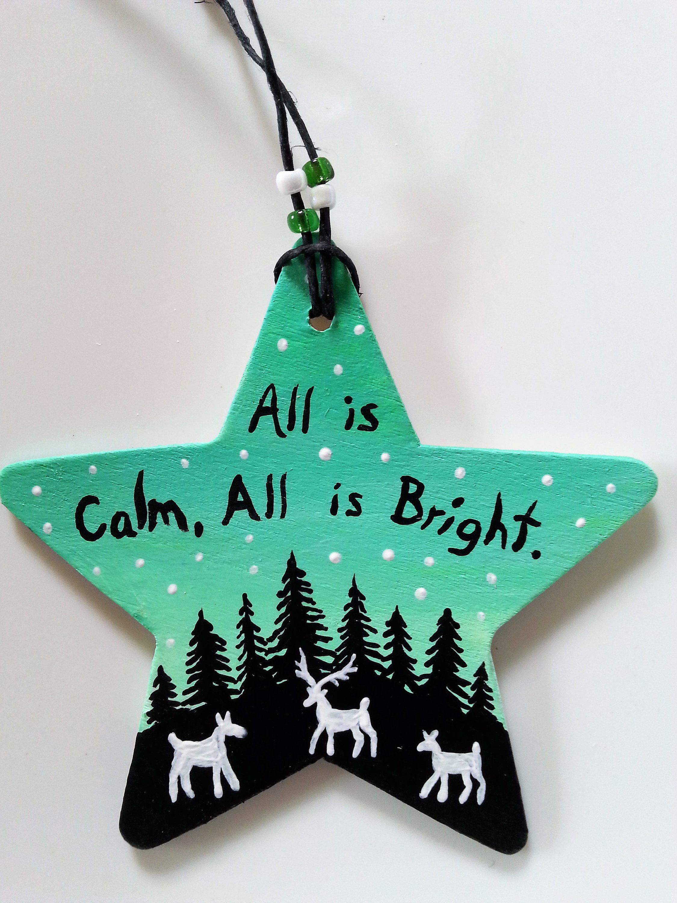 Hand Painted Star Ornament Etsy In 2021 Christmas Ornament Crafts Star Ornament Hand Painted Ornaments