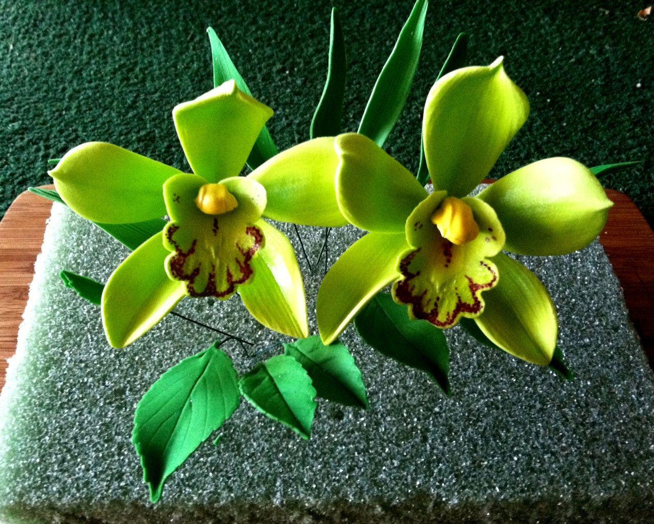 Cymbidium gumpaste cymbidium orchid cake decoration by pin gum paste orchid wedding cake toppers for sale cakes izmirmasajfo