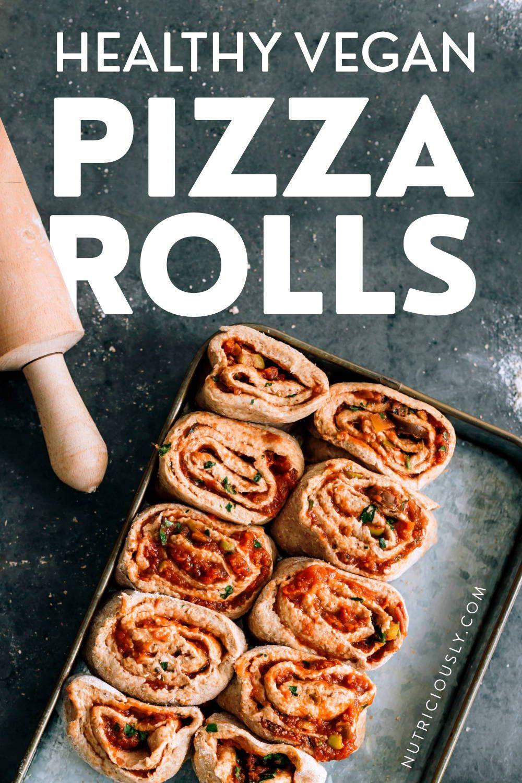 Vegan Pizza Rolls (Whole Wheat & Veggie-Packed)