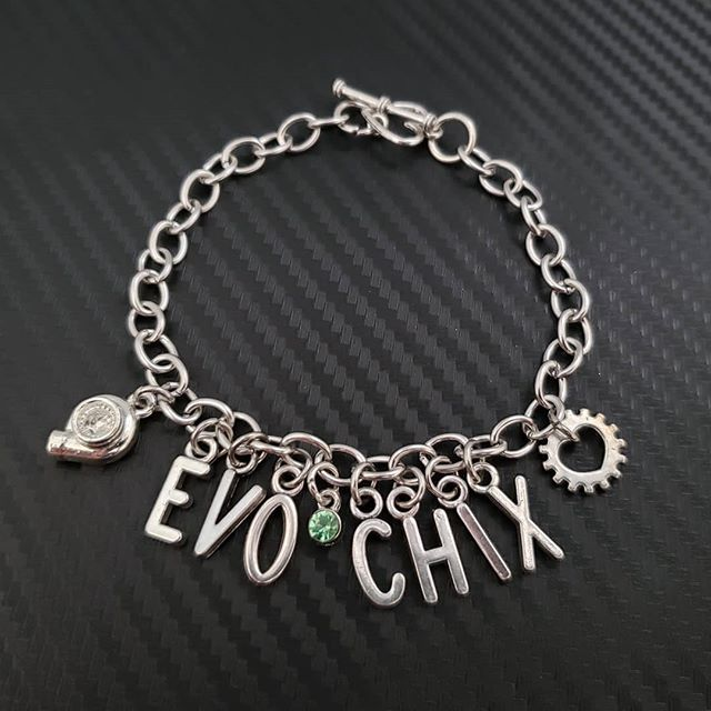 Tag an EVO GIRL! Make/Model Car Part Charm Bracelet going out today
