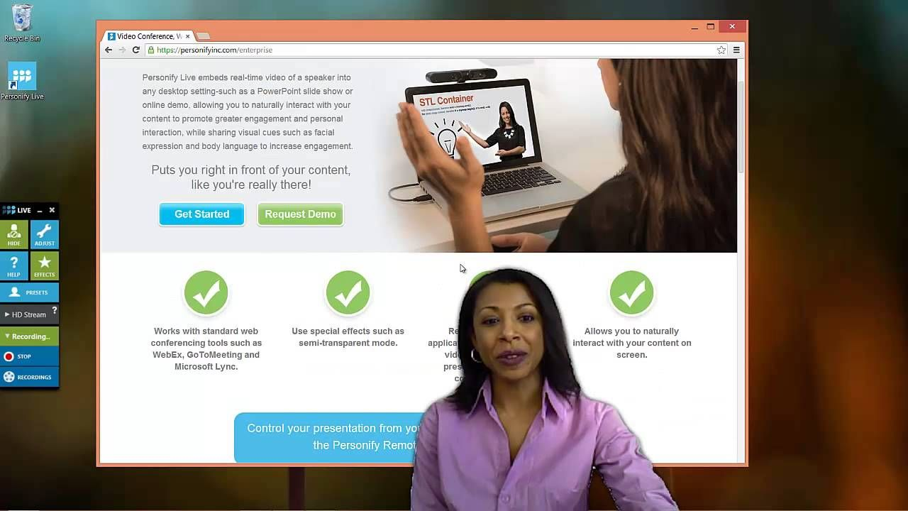 Tutorial Recording Videos With Personify Live Tutorial Body Language Personify