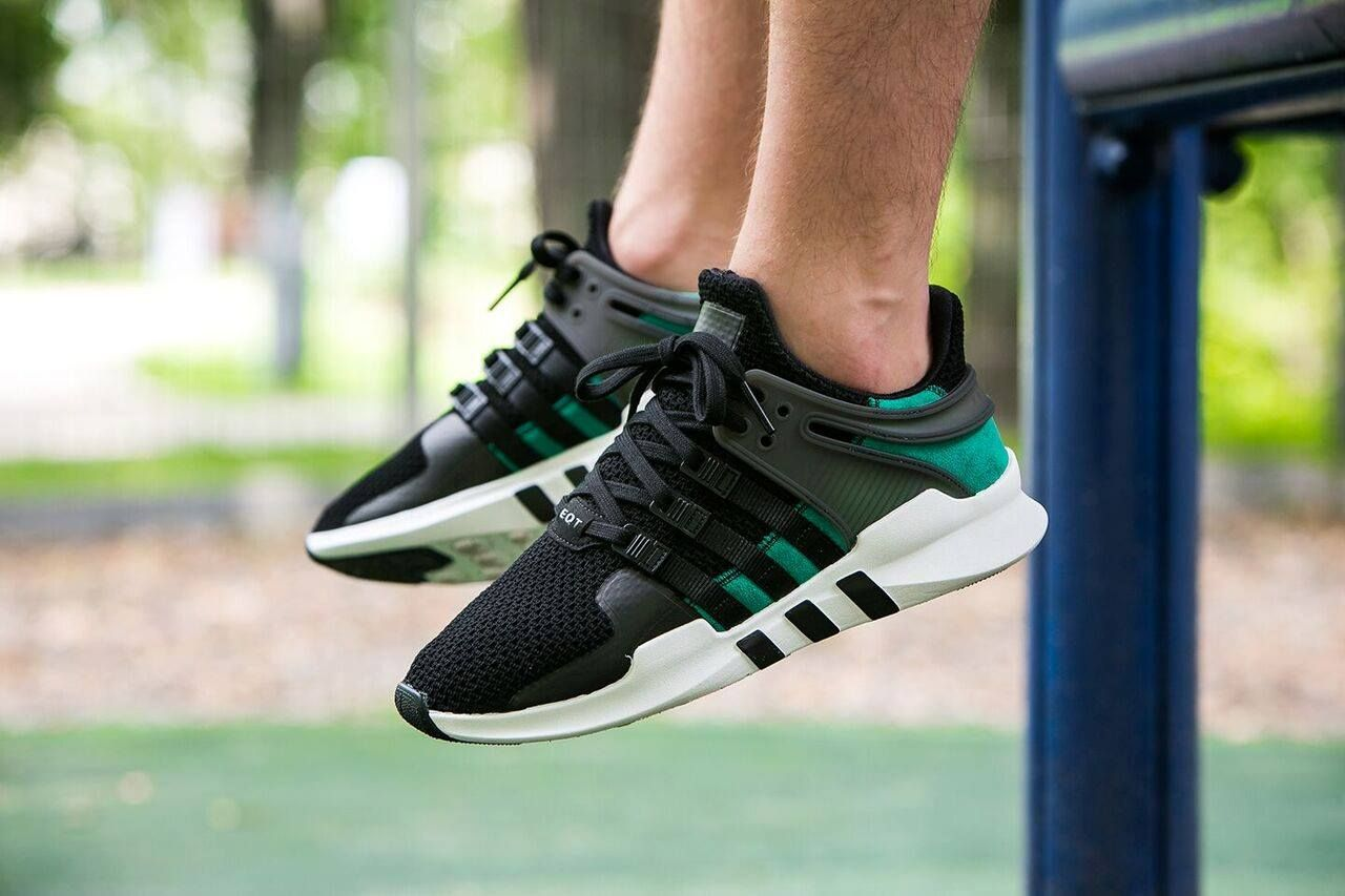 adidas eqt support adv black and green