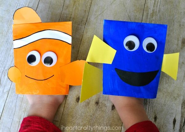 Finding dory craft envelope puppets puppet envelopes for Finding dory crafts for preschoolers