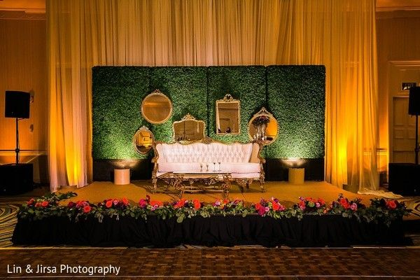 Pin by swank studio on wedding decor pinterest stage decorations sweetheart stage in coronado ca indian wedding by lin jirsa photography junglespirit Image collections