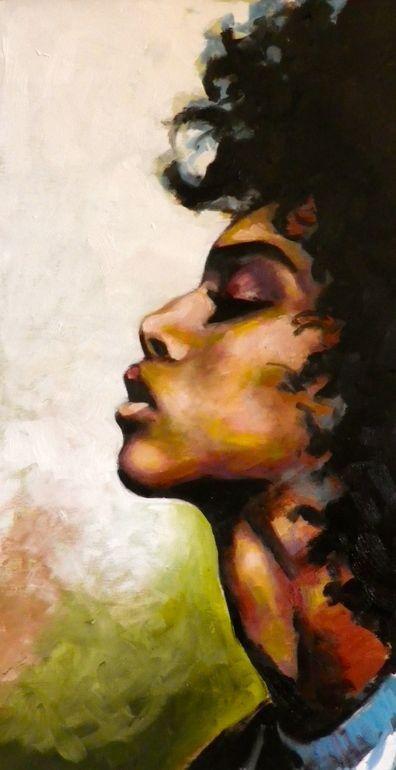The Work Of Art Known As Natural Black Hair Art Paint Arte Arte