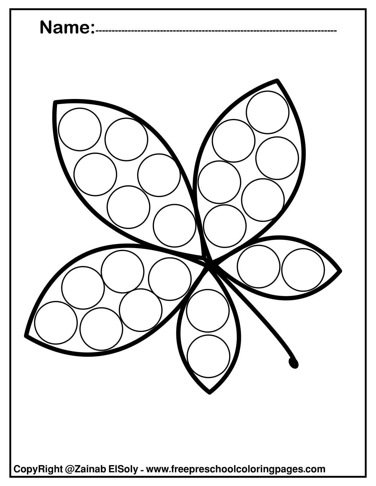 - Free Autumn Leaves Fall Do A Dot Marker Coloring Pages Free