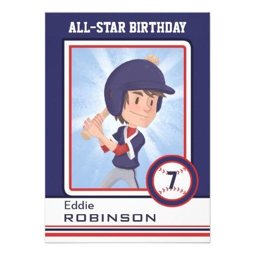 Mock Baseball Card Birthday