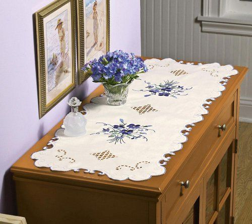 Lace Violet Dresser Scarf Table Runner By Collections Etc 9 99 Polyester
