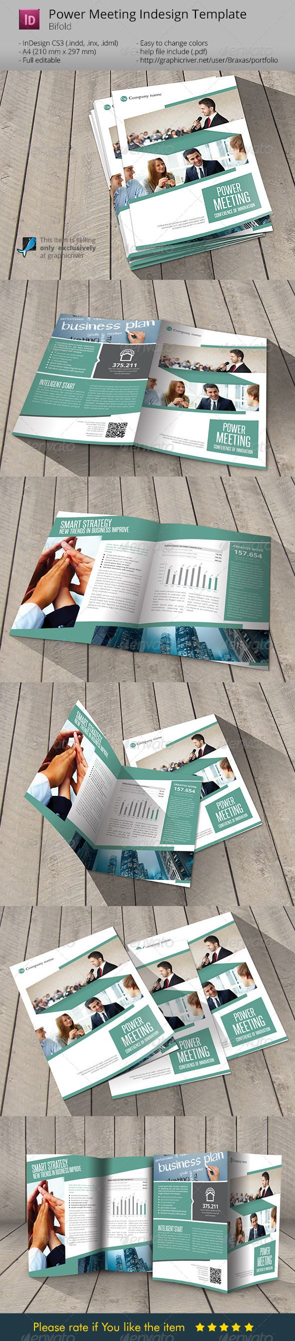 Power Meeting Indesign Template Brochure