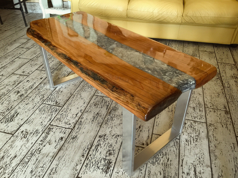 Tavolo Legno E Resina Tavolino Salotto Design In Resina Etsy Outdoor Furniture Outdoor Decor Decor