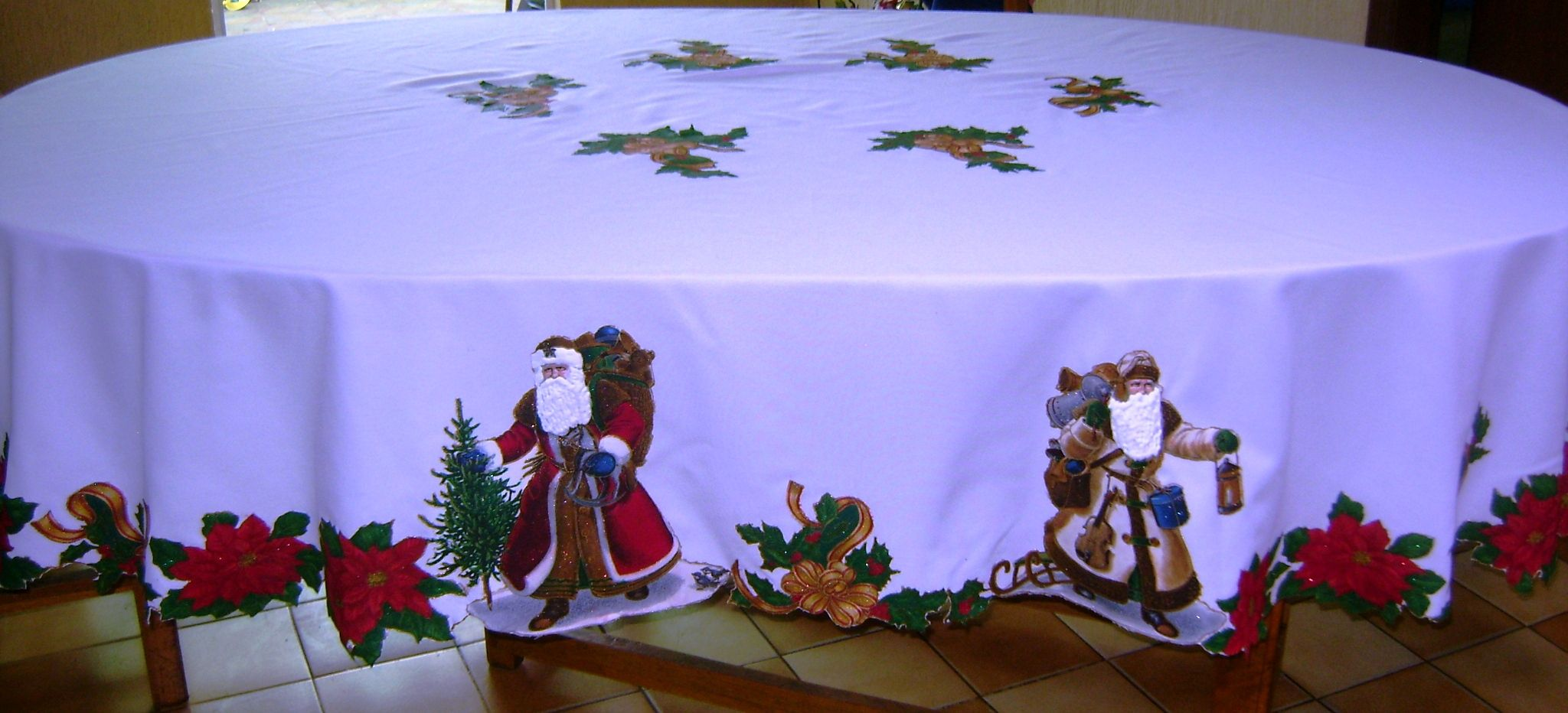 Manualidades Manteles Para Navidad.Mantel Navideno Con Aplicaciones Manteles Navidenos
