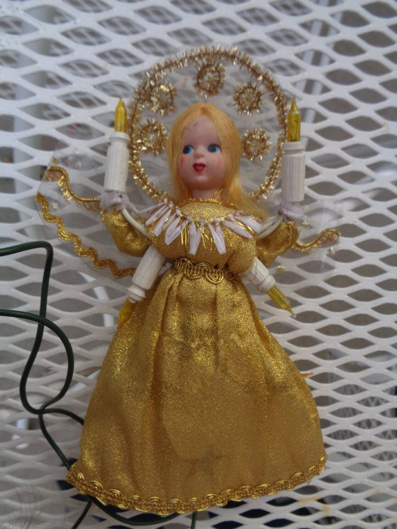 Vintage 1950s Christmas Tree top Topper Angel by ZoesKids on Etsy