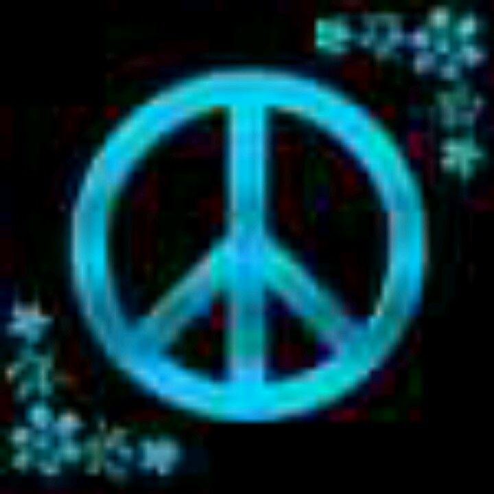 Blue Peace Sign And Flowers Black Background Peace Pinterest